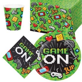 Gaming Party Tableware Pack for 8