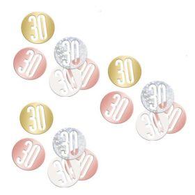 Glitz Rose Gold Age 30 Confetti 14g