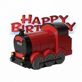 Train Resin Happy Birthday Cake Topper