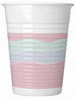 Elegant Party Plastic Cups 200ml, pk8