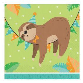 Sloth Party Lunch Napkins 33cm x 33cm, pk16