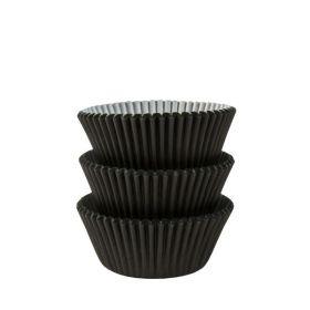 Black Cupcake Cases, pk75