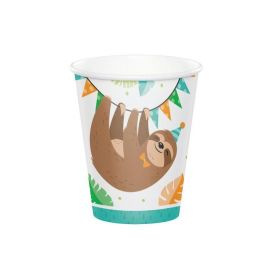 Sloth Party Cups 266ml, pk8