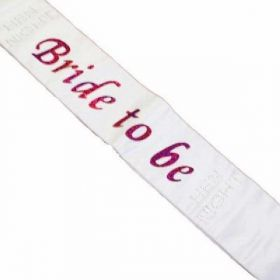Hen Night Bride to Be Sash with Diamante stones