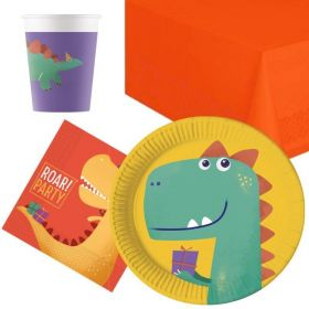 Dinosaur Roar Party Tableware Pack for 8