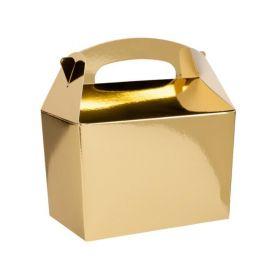 Metallic Gold Party Boxes, pk6