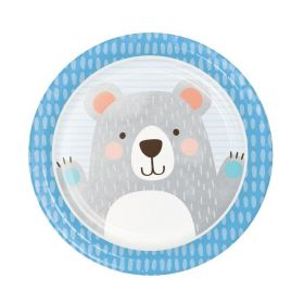 Birthday Bear Dinner Plates 23cm, pk8