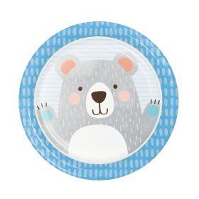 Birthday Bear Dinner Plates 23cm, pk8