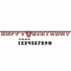 Minnie Mouse Add an Age Letter Banner 1.8m