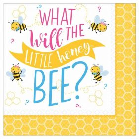 What Will It Bee? Luncheon Napkins 33cm x 33cm, pk16