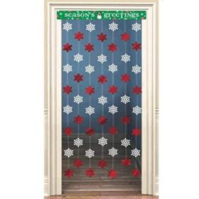 Christmas Snowflake Door Curtain