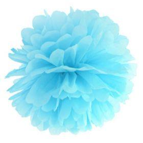 Pastel Blue Tissue Paper Pom Pom 25cm