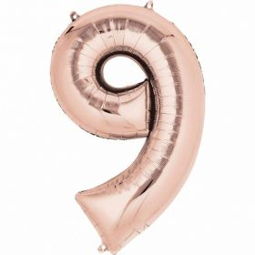 Rose Gold Number 9 SuperShape Foil Balloon