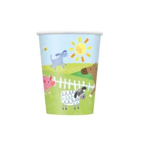 8 Farm Party 9oz Cups