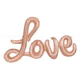 Rose Gold Love Foil Letter Balloon Banner Kit 36''
