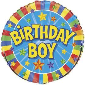 "Colourful Birthday Boy Foil Balloon 18"""