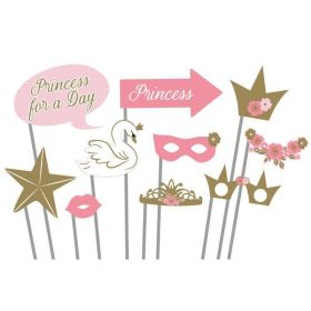 Princess for a Day Party Photo Props, pk10
