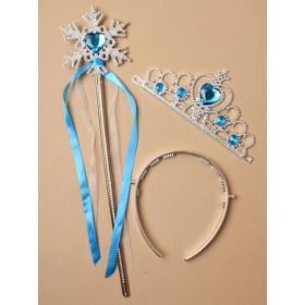 Ice Princess Snowflake Wand with Tiara