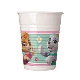 Pink Paw Patrol Party Cups 200ml, pk8