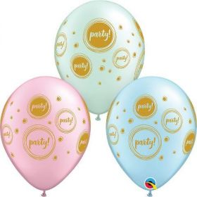 Elegant Party Latex Balloons, pk6