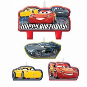 Cars 3 Candles, pk4