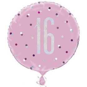 "Glitz Pink Age 16 Foil Balloon 18"""