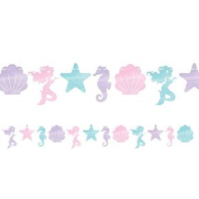 Mermaid Shine Shaped Banner with Twine 1.5