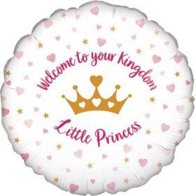 "Welcome Little Princess Foil Balloon 18"""