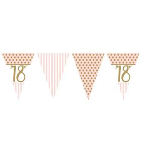 Pink Chic 18th Birthday Bunting 3.7m