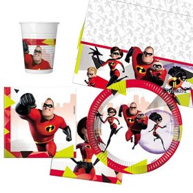 The Incredibles 2 Tableware Party Pack for 8