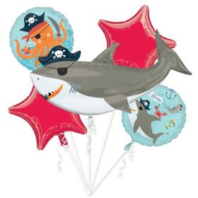 Ahoy Birthday Foil Balloon Bouquet, pk5