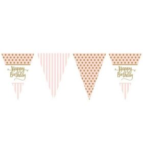 Pink Chic Happy Birthday Bunting 3.7m