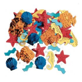 Confetti Sealife Embossed Metallic Mix 14g