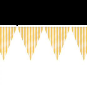 Yellow Stripe Flag Banner 3.65m