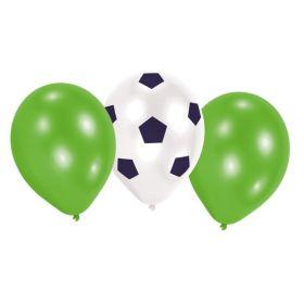 """Kicker Party Latex Balloons 9"""", pk6"""