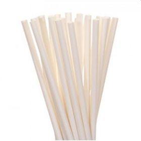 White Paper Straws, pk20