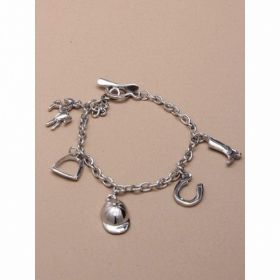 Silv Chain Bracelet With Charms