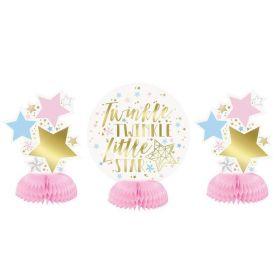 Twinkle Twinkle Little Star Mini Honeycomb Table Decorations, pk3