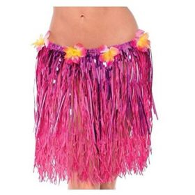 Hawaiian Grass & Tinsel Adult Hula Skirt