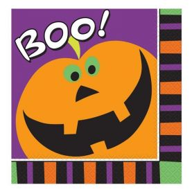 Halloween Pumpkin Boo Party Napkins