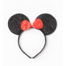Glitter Black Minnie Mouse Ears
