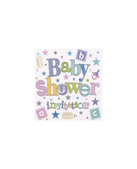 Baby Shower Invitations, pk6