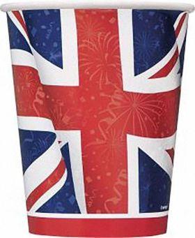 8 Best Of British 9oz. Cups