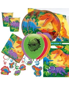 Dinosaur Prehistoric Deluxe Party Pack for 16