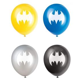 """Batman Party Latex Balloons 12"""", pk8"""