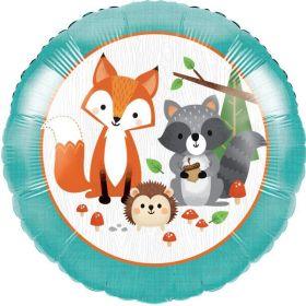 "Wild Woodland Animals Foil Balloon 18"""