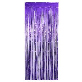 Metallic Purple Door Curtain