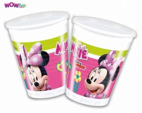 Disney Minnie Mouse Cups 200ml, pk8