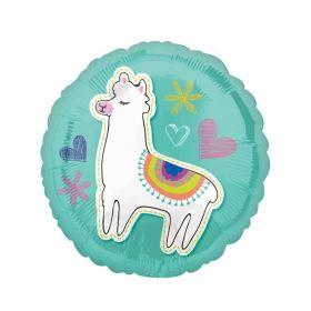 Llama Selfie Celebrations Standad Foil Balloon 18''
