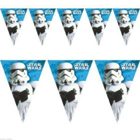 Star Wars Classic Plastic Flag Banner